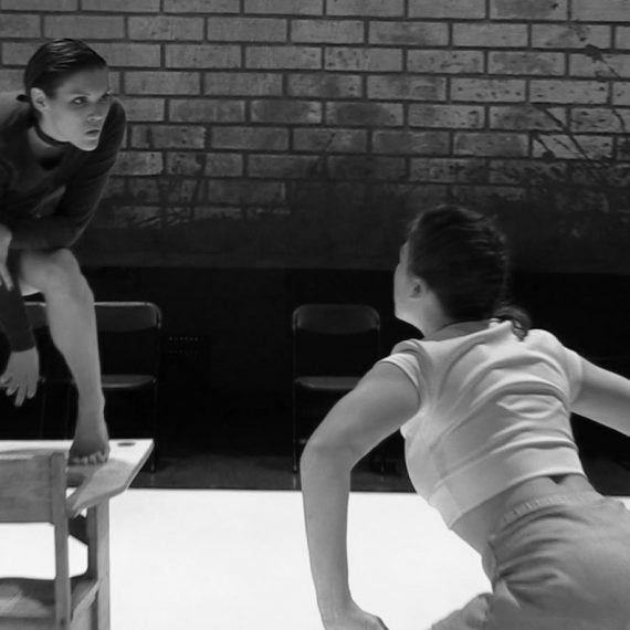 Val Duncan and Celene Harder in THE LESSON (Photo: Dean Mullin)