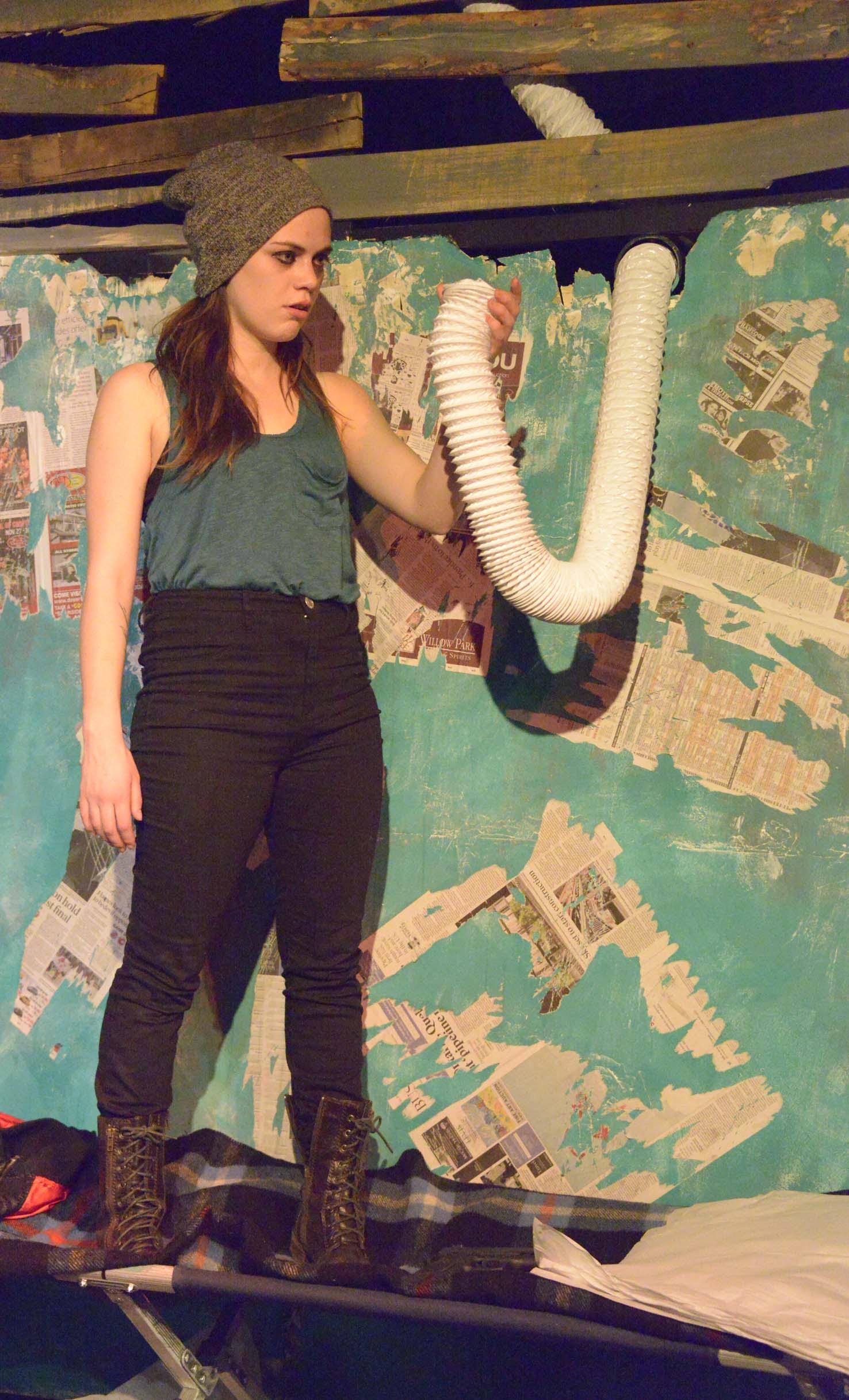 Meredith Pritchard in THE DUMB WAITER (Photo: Mike Unrau)
