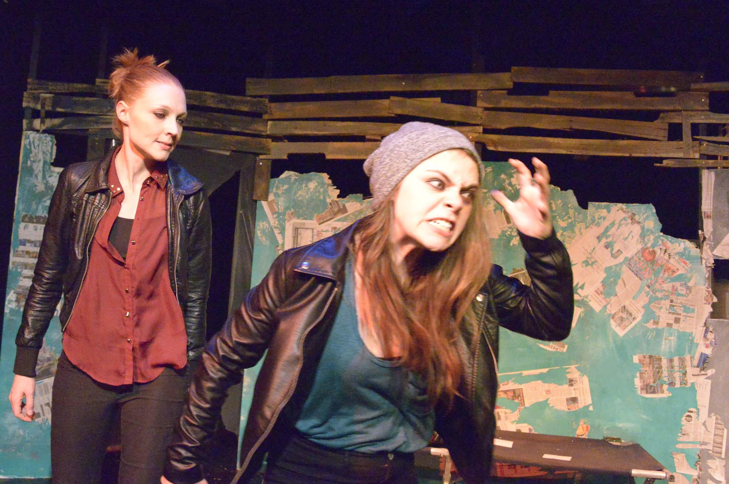 Rachel Gilliatt and Meredith Pritchard in THE DUMB WAITER (Photo: Mike Unrau)