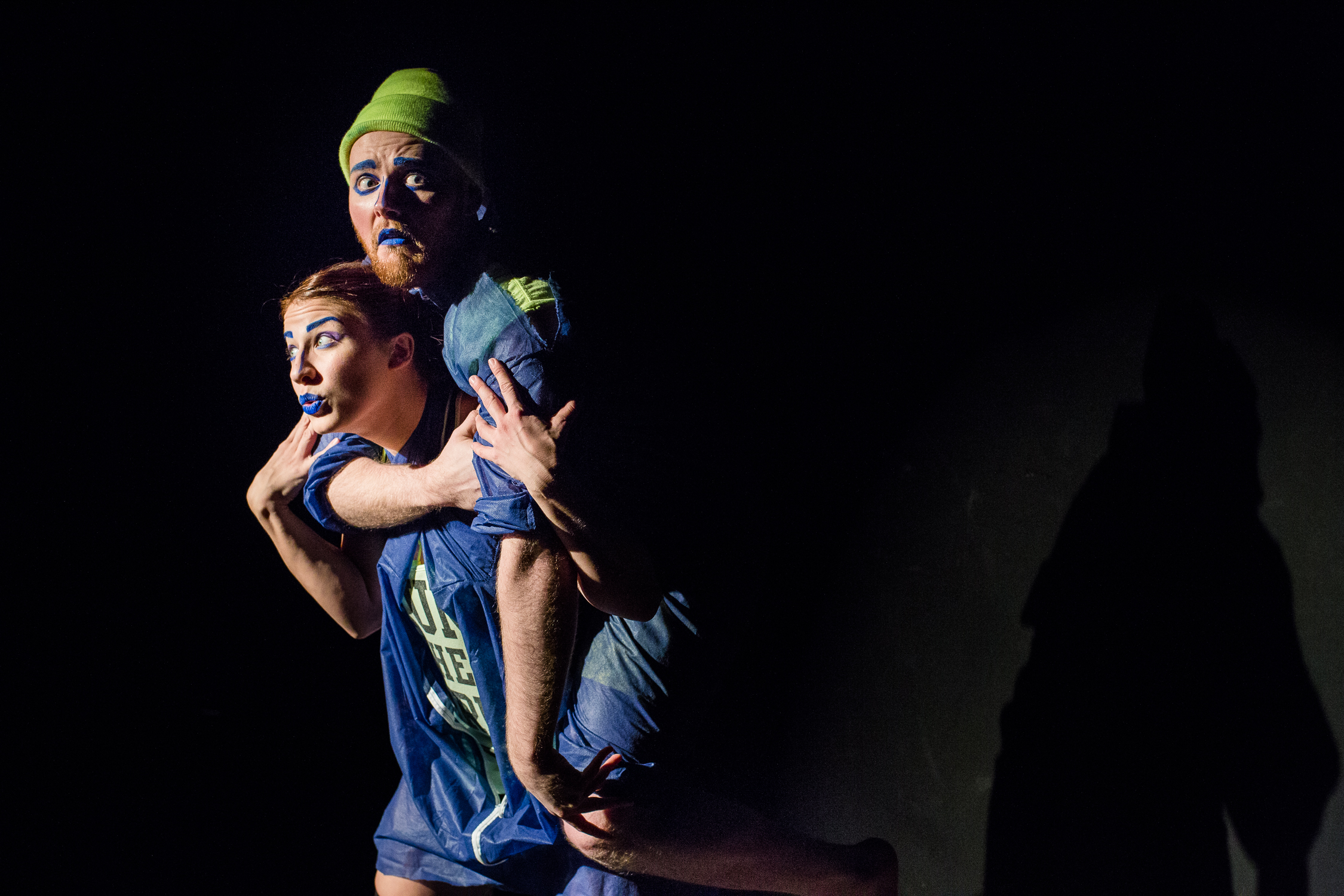 Celene Harder and Zakk Macdonald in THE ELEPHANT CALF (Photo: Chris Tait)