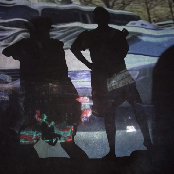 Projections by Dean Mullin in SPURT OF BLOOD (Photo: Dean Mullin)