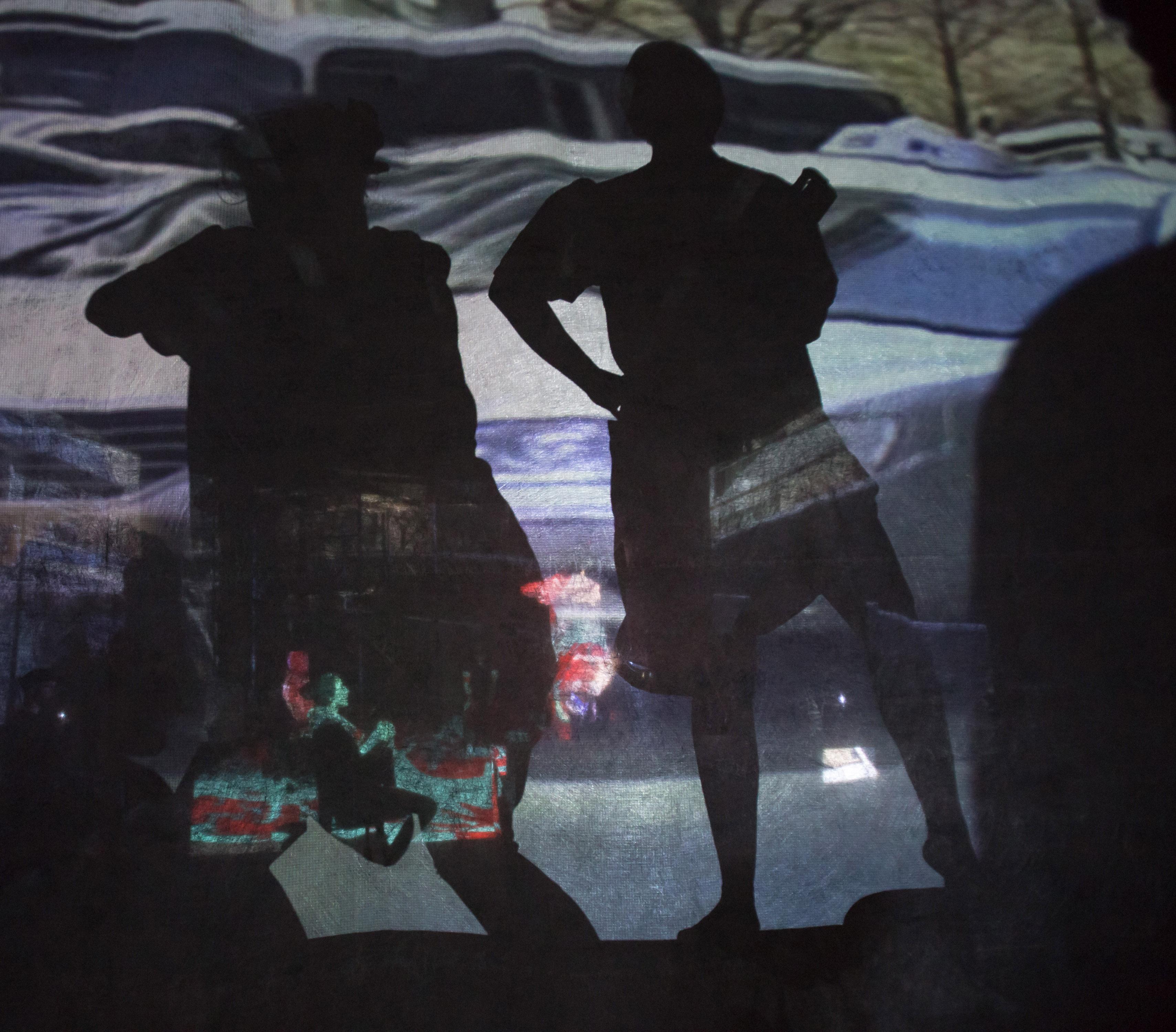 Projections by Dean Mullin in SPURT OF BLOOD (Photo: Dean Mullin)